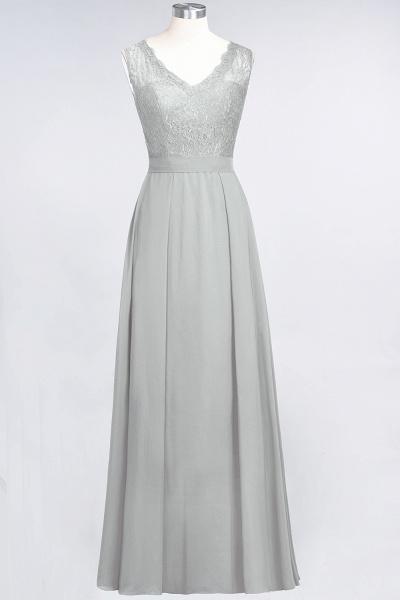 A-Line Chiffon Lace V-Neck Sleeveless Floor-Length Bridesmaid Dress_29