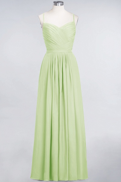 A-Line Chiffon Spaghetti-Straps Sweetheart Sleeveless Floor-Length Bridesmaid Dress with Ruffles_33