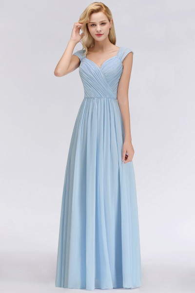A-Line Chiffon Straps Sweetheart Sleeveless Floor-Length Bridesmaid Dress with Ruffles_38