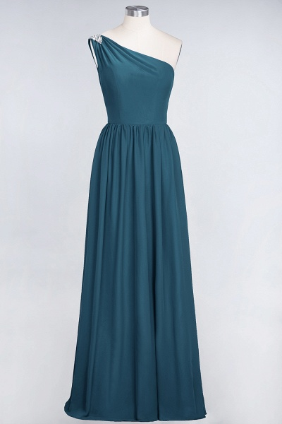 A-Line Chiffon One-Shoulder Sleeveless Ruffles Floor-Length Bridesmaid Dress with Beadings_26