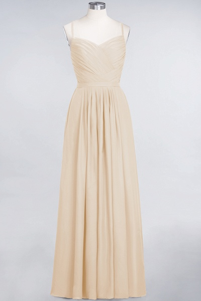 A-Line Chiffon Spaghetti-Straps Sweetheart Sleeveless Floor-Length Bridesmaid Dress with Ruffles_14