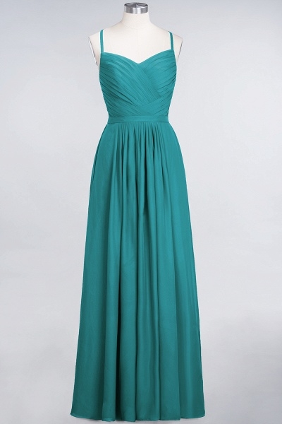 A-Line Chiffon Spaghetti-Straps Sweetheart Sleeveless Floor-Length Bridesmaid Dress with Ruffles_31