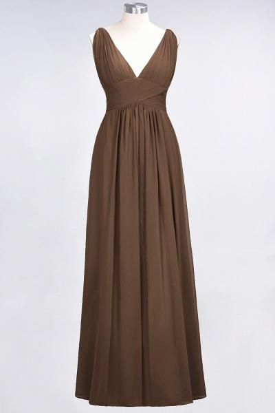 A-Line Chiffon V-Neck Sleeveless Floor-Length Bridesmaid Dress with Ruffle_12