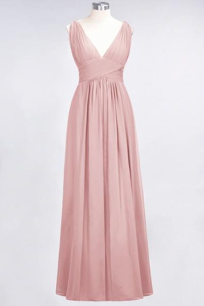 A-Line Chiffon V-Neck Sleeveless Floor-Length Bridesmaid Dress with Ruffle_6