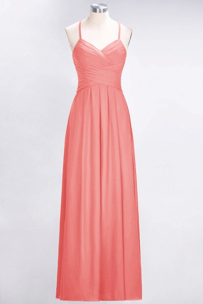 A-Line Chiffon Halter V-Neck Sleeveless Floor-Length Bridesmaid Dress with Ruffles_7