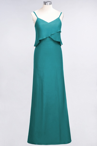 A-Line Chiffon Spaghetti-Straps V-Neck Sleeveless Floor-Length Bridesmaid Dress_31