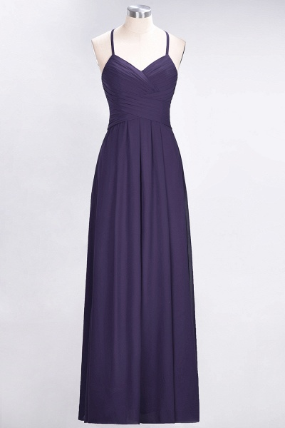 A-Line Chiffon Halter V-Neck Sleeveless Floor-Length Bridesmaid Dress with Ruffles_18