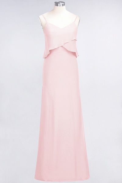 A-Line Chiffon Spaghetti-Straps V-Neck Sleeveless Floor-Length Bridesmaid Dress_3