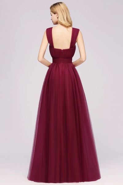 A-Line Chiffon Sweetheart Straps Sleeves Floor-Length Bridesmaid Dresses with Ruffles_36