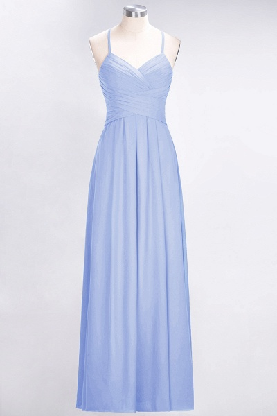 A-Line Chiffon Halter V-Neck Sleeveless Floor-Length Bridesmaid Dress with Ruffles_21