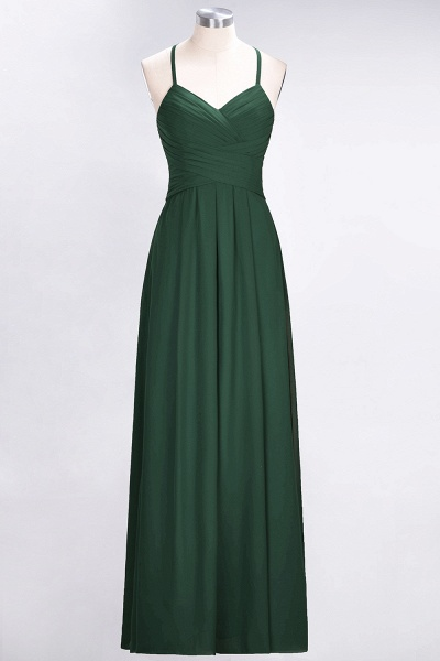 A-Line Chiffon Halter V-Neck Sleeveless Floor-Length Bridesmaid Dress with Ruffles_30