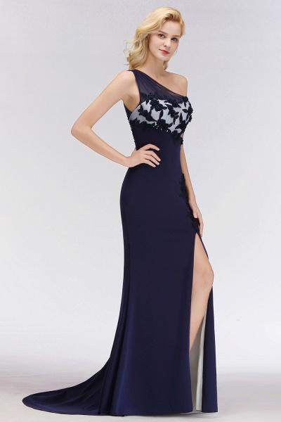 BM0085 Simple Side Split One-Shoulder Sleeveless Mermaid Bridesmaid Dress_6