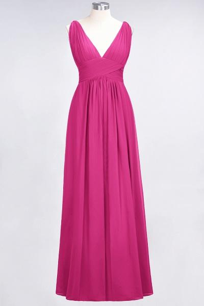 A-Line Chiffon V-Neck Sleeveless Floor-Length Bridesmaid Dress with Ruffle_9