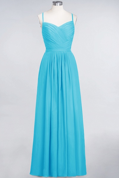 A-Line Chiffon Spaghetti-Straps Sweetheart Sleeveless Floor-Length Bridesmaid Dress with Ruffles_23