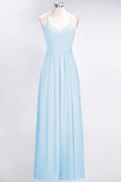 A-Line Chiffon Halter V-Neck Sleeveless Floor-Length Bridesmaid Dress with Ruffles_22