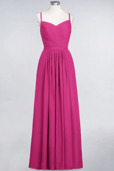 A-Line Chiffon Spaghetti-Straps Sweetheart Sleeveless Floor-Length Bridesmaid Dress with Ruffles_9
