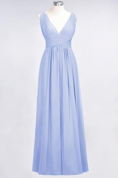 A-Line Chiffon V-Neck Sleeveless Floor-Length Bridesmaid Dress with Ruffle_21