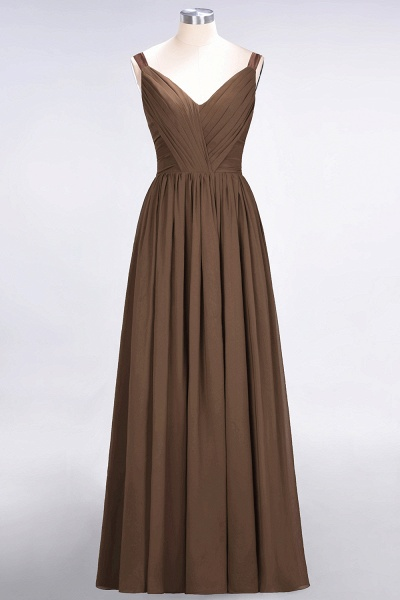 A-Line Chiffon Straps V-Neck Sleeveless Backless Floor-Length Bridesmaid Dress with Ruffles_12