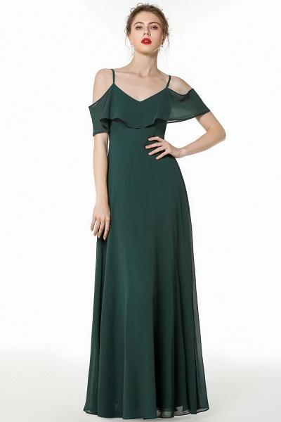 BM0826 Simple Spaghetti Straps Open Back Long Bridesmaid Dress_5