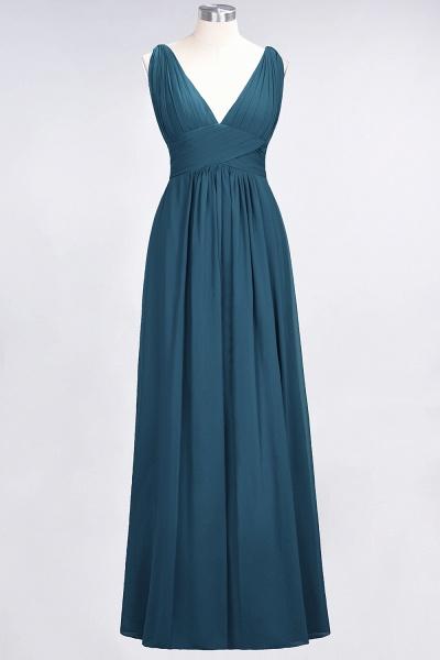 A-Line Chiffon V-Neck Sleeveless Floor-Length Bridesmaid Dress with Ruffle_26