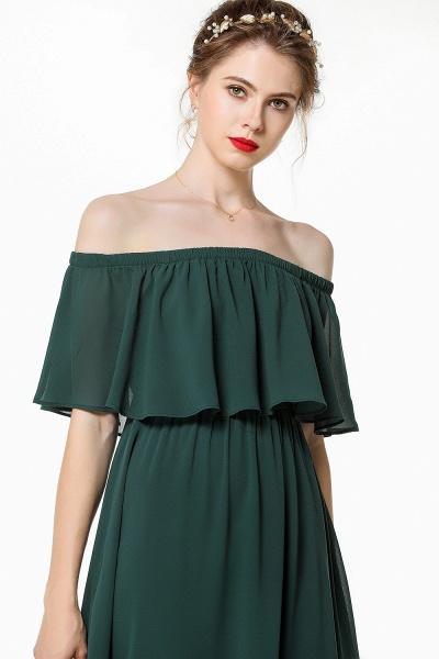 BM0827 Simple Off The Shoulder A-Line Long Bridesmaid Dress_5