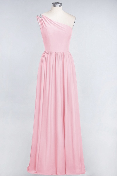 A-Line Chiffon One-Shoulder Sleeveless Ruffles Floor-Length Bridesmaid Dress with Beadings_4