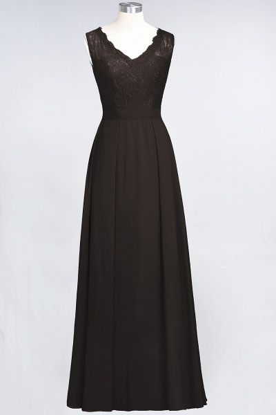 A-Line Chiffon Lace V-Neck Sleeveless Floor-Length Bridesmaid Dress_11