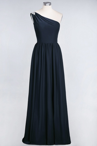 A-Line Chiffon One-Shoulder Sleeveless Ruffles Floor-Length Bridesmaid Dress with Beadings_27