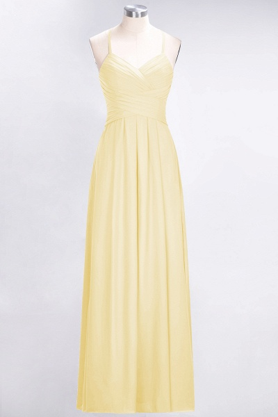 A-Line Chiffon Halter V-Neck Sleeveless Floor-Length Bridesmaid Dress with Ruffles_17