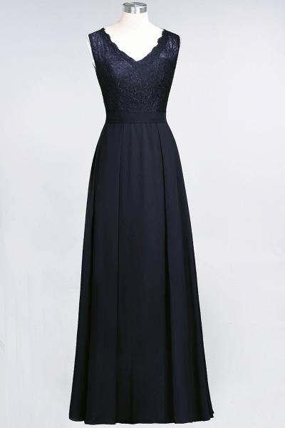 A-Line Chiffon Lace V-Neck Sleeveless Floor-Length Bridesmaid Dress_27