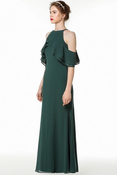 BM0825 Gorgeous Straps Dark Green Floor Length Bridesmaid Dress_3