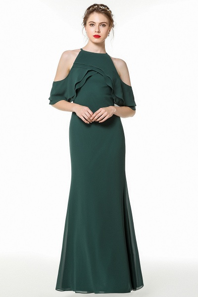 BM0825 Gorgeous Straps Dark Green Floor Length Bridesmaid Dress_4