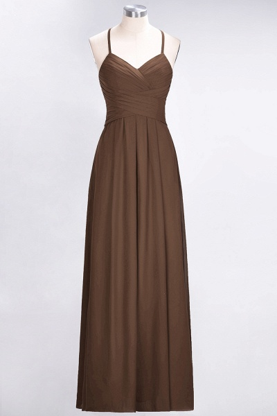 A-Line Chiffon Halter V-Neck Sleeveless Floor-Length Bridesmaid Dress with Ruffles_12
