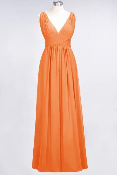 A-Line Chiffon V-Neck Sleeveless Floor-Length Bridesmaid Dress with Ruffle_15