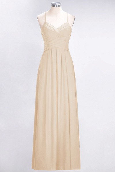 A-Line Chiffon Halter V-Neck Sleeveless Floor-Length Bridesmaid Dress with Ruffles_14