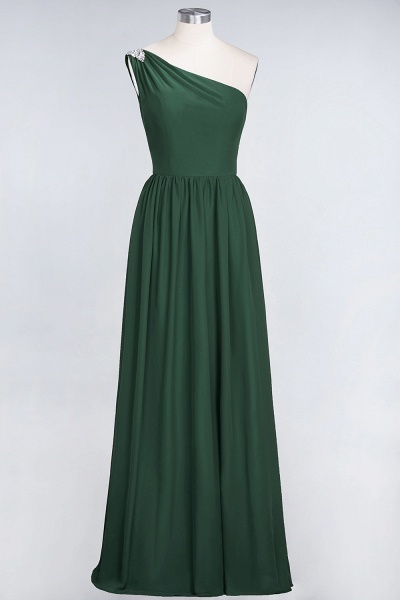 A-Line Chiffon One-Shoulder Sleeveless Ruffles Floor-Length Bridesmaid Dress with Beadings_30