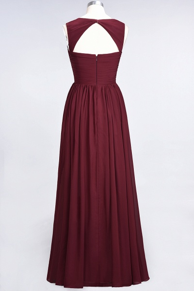 BM0420 Burgundy Simple Cap Sleeves Sweetheart Bridesmaid Dress_7