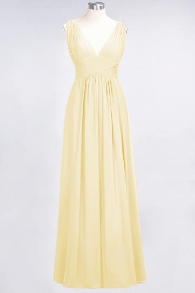 A-Line Chiffon V-Neck Sleeveless Floor-Length Bridesmaid Dress with Ruffle_17