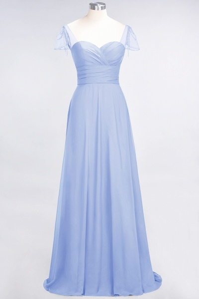 A-Line Chiffon Sweetheart Cap-Sleeves Ruffle Floor-Length Bridesmaid Dress with Beadings_21