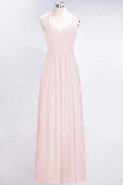 A-Line Chiffon Halter V-Neck Sleeveless Floor-Length Bridesmaid Dress with Ruffles_5