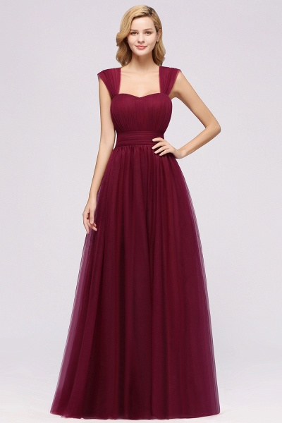 A-Line Chiffon Sweetheart Straps Sleeves Floor-Length Bridesmaid Dresses with Ruffles_35