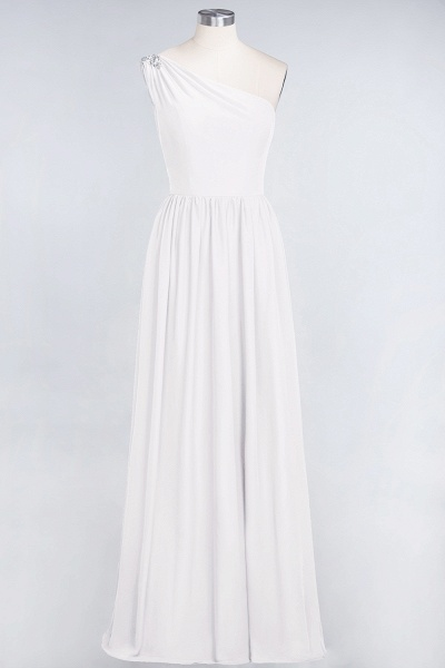 A-Line Chiffon One-Shoulder Sleeveless Ruffles Floor-Length Bridesmaid Dress with Beadings_1