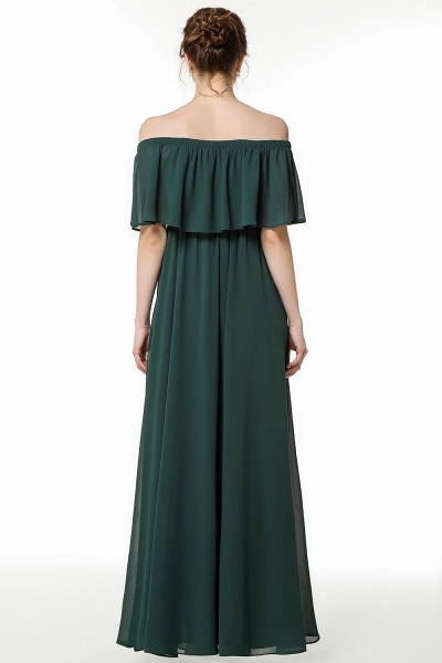 BM0827 Simple Off The Shoulder A-Line Long Bridesmaid Dress_2