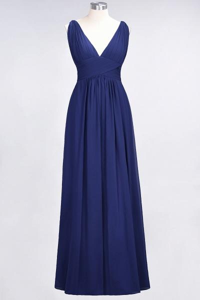 A-Line Chiffon V-Neck Sleeveless Floor-Length Bridesmaid Dress with Ruffle_25