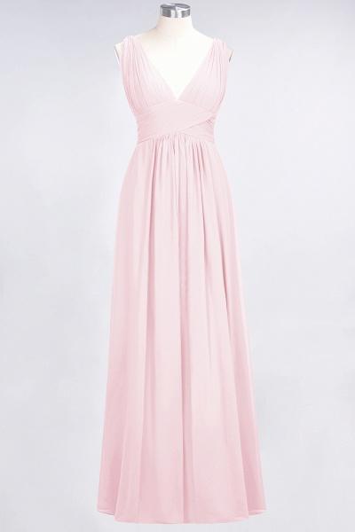 A-Line Chiffon V-Neck Sleeveless Floor-Length Bridesmaid Dress with Ruffle_3