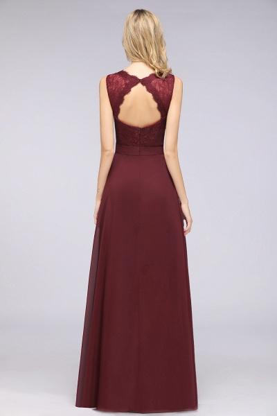 A-Line Chiffon Lace V-Neck Sleeveless Floor-Length Bridesmaid Dress_36