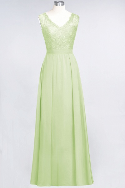 A-Line Chiffon Lace V-Neck Sleeveless Floor-Length Bridesmaid Dress_33