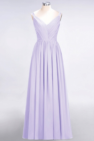 A-Line Chiffon Straps V-Neck Sleeveless Backless Floor-Length Bridesmaid Dress with Ruffles_20