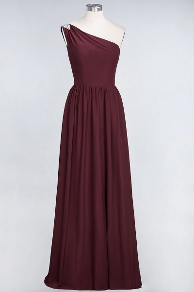A-Line Chiffon One-Shoulder Sleeveless Ruffles Floor-Length Bridesmaid Dress with Beadings_10