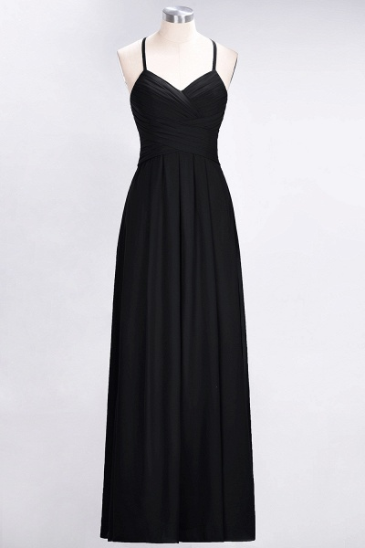 A-Line Chiffon Halter V-Neck Sleeveless Floor-Length Bridesmaid Dress with Ruffles_28